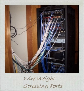 Hall of shame - Wire weight stressing ports.