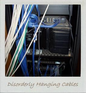 Hall of Shame - Disorderly hanging cables!