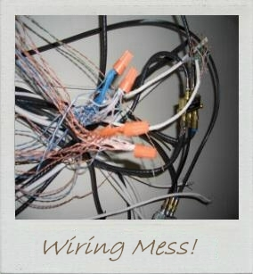Hall of Shame - low voltage wiring mess.